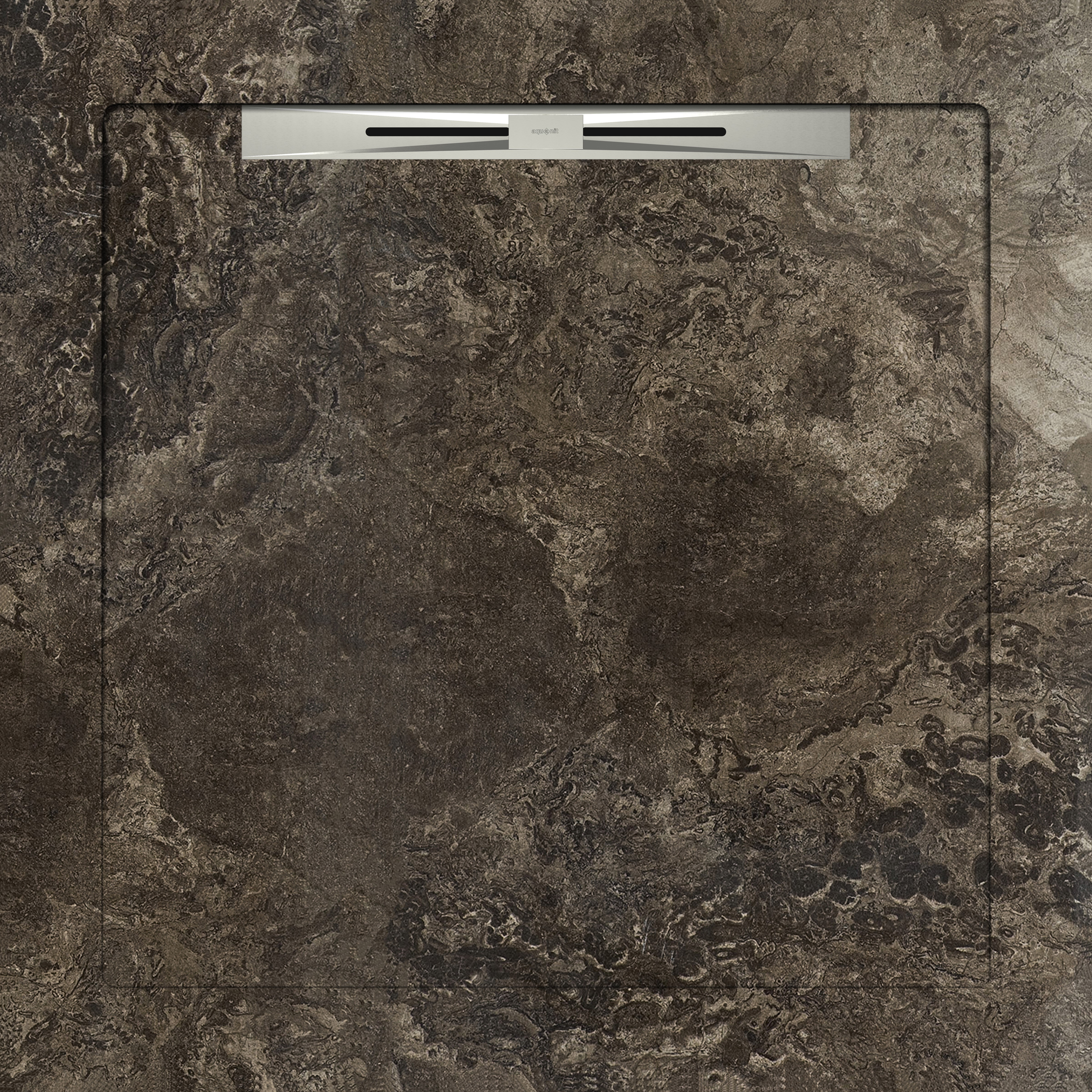 FOSSIL BROWN - SLOPE LINE 90X90